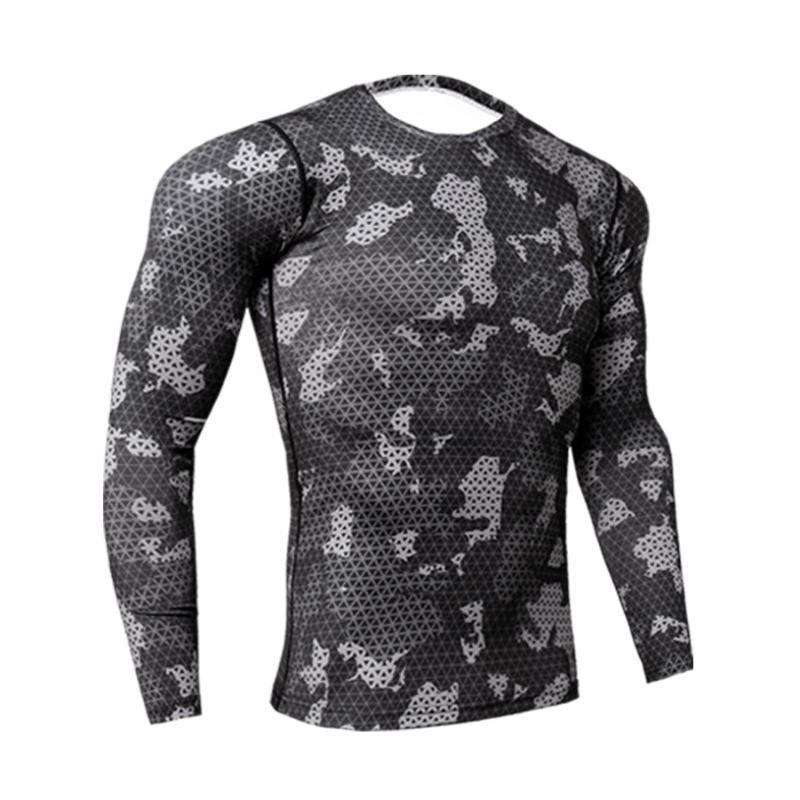 Laufer Trikots 1 stück Mens Kompression Langarm Strumpfhosen Sport Schnelltisches T-Shirt Gym Fitness-Shirt