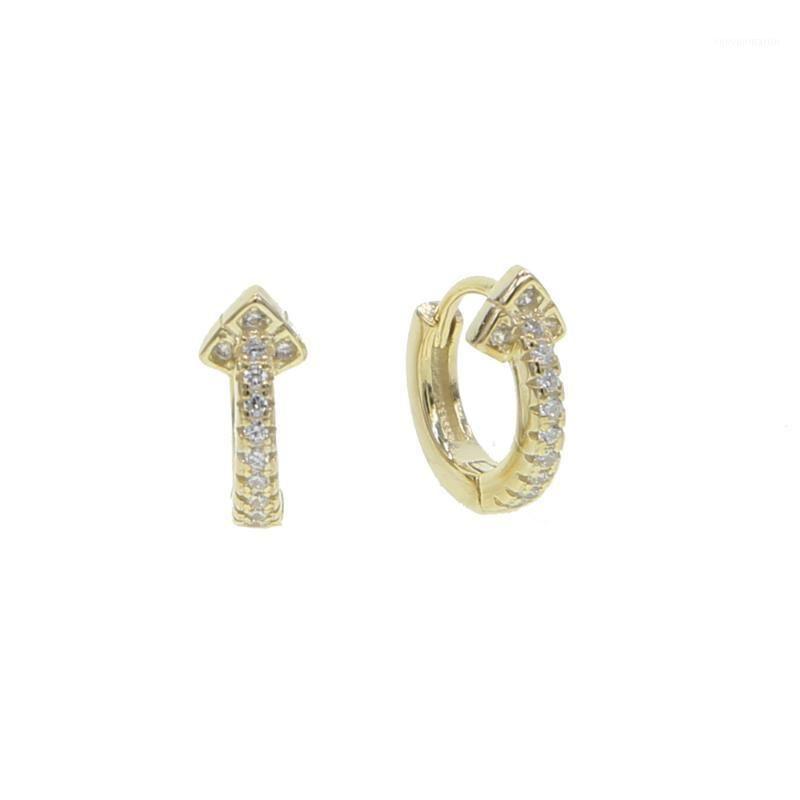 2020 Moda delicadas delicadas delicadas Mini aros CZ Flower Hoops Pendiente para las mujeres Vermeil 925 Sterling Silver Huggie Small En Sale1