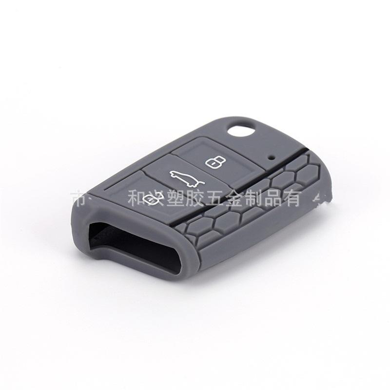 간단한 차량 원격 제어 케이스 실리콘 순수 컬러 자동차 키 슬리브 실용적인 키 VW 골프 스코다 옥타비의 Protectice 커버