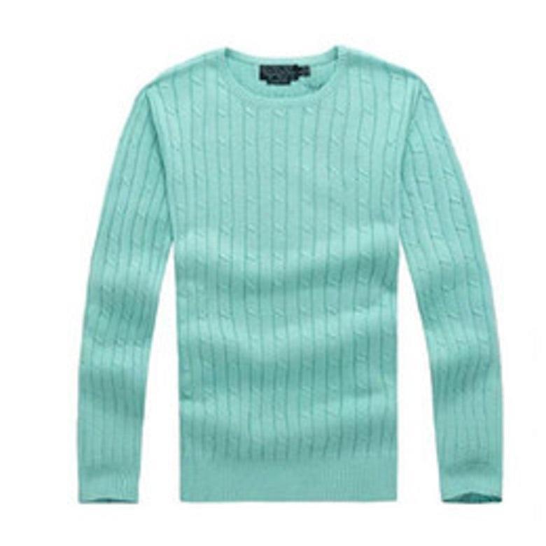 Livraison Gratuite Haute Qualité Myrville Polo Brand Homme et Pull torsadé Pull en coton tricoté Pull en coton Mme Polo