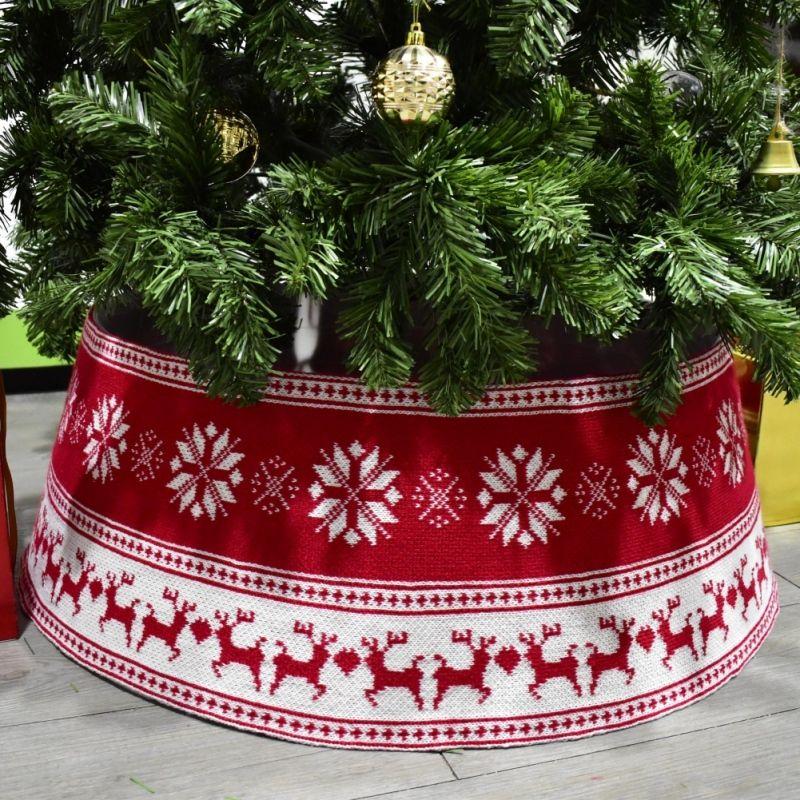 30-дюймовая рождественская елка юбка ПВХ базовый диаметр снежинки лось вязание дерева воротник Xmas вечеринка дома украшения Z1128