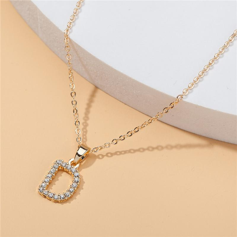 Fashion Luxurys Designer Necklace Necklaces Letter Women Clavicle Crystal Lady C1-20 Necklace Customized Diamond Jewelry Gift Pendant Mxntd