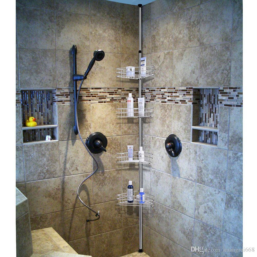 Supporto per scaffalatura da parete per bagni da bagno in custodia da bagno in metallo