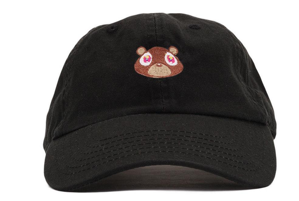 New arrival Baseball hats Kanye West bear cap drake Snapback Hat Kendrick Lamar cap Sun hat Cowboy Hat Caps Adjustable
