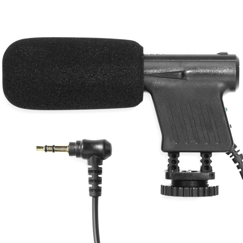 Mini Professional Condenser Microphone Wired Video Recording Interview Mic for DSLR Camera Filmmaking