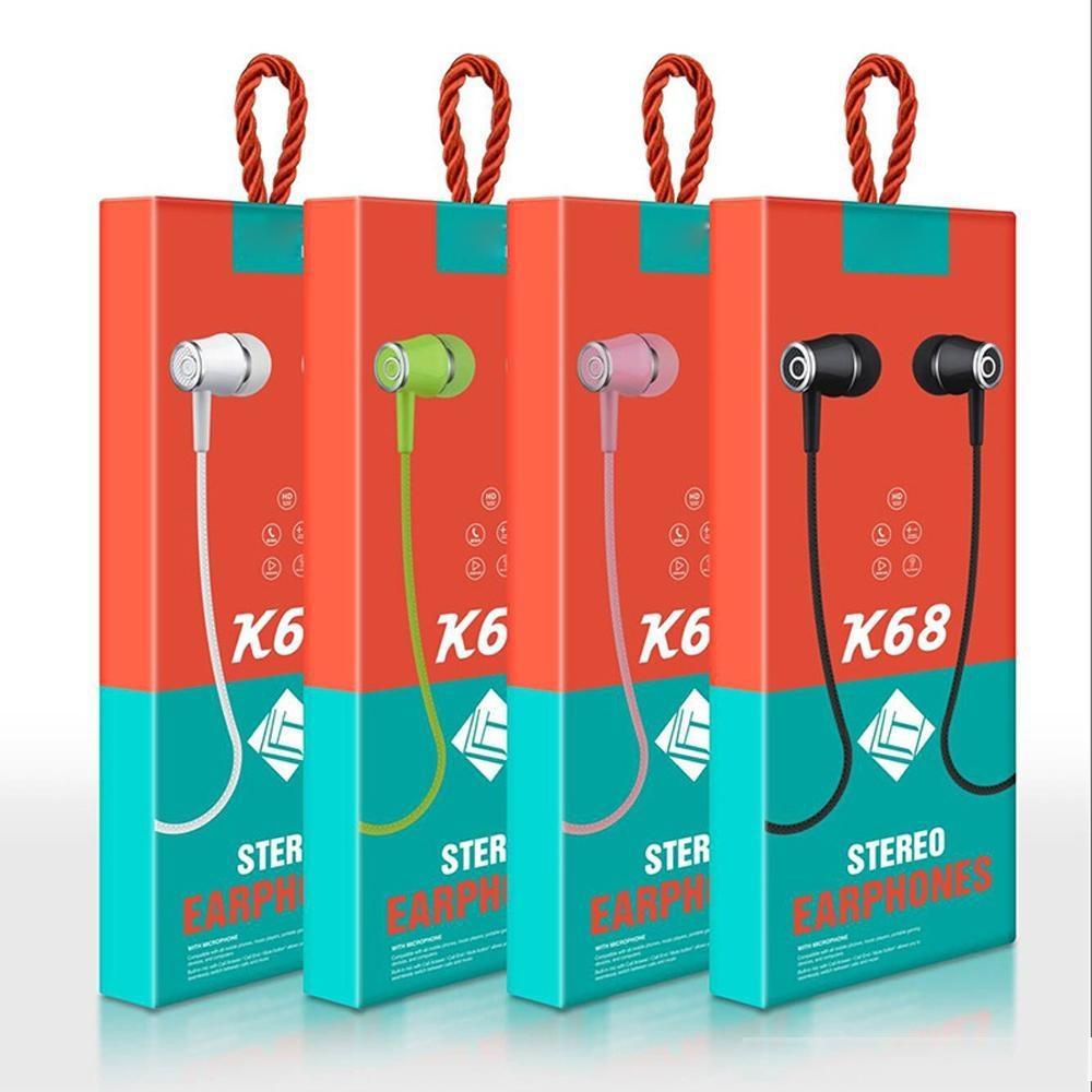 Sport Écouteur câblé Écouteurs Super Bass 3.5mm Jack Jack Écouteur d'écouteurs avec micro pour téléphones Android
