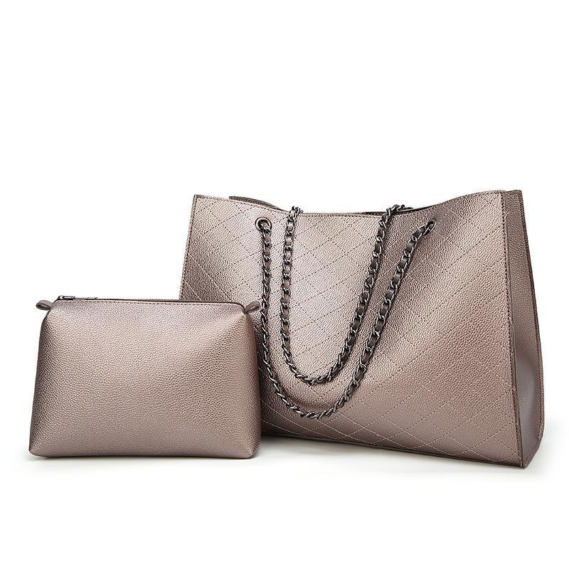 HBP composite bag messenger bag handbag purse new designer bag high quality fashion two in one Ribbed check chain Casual