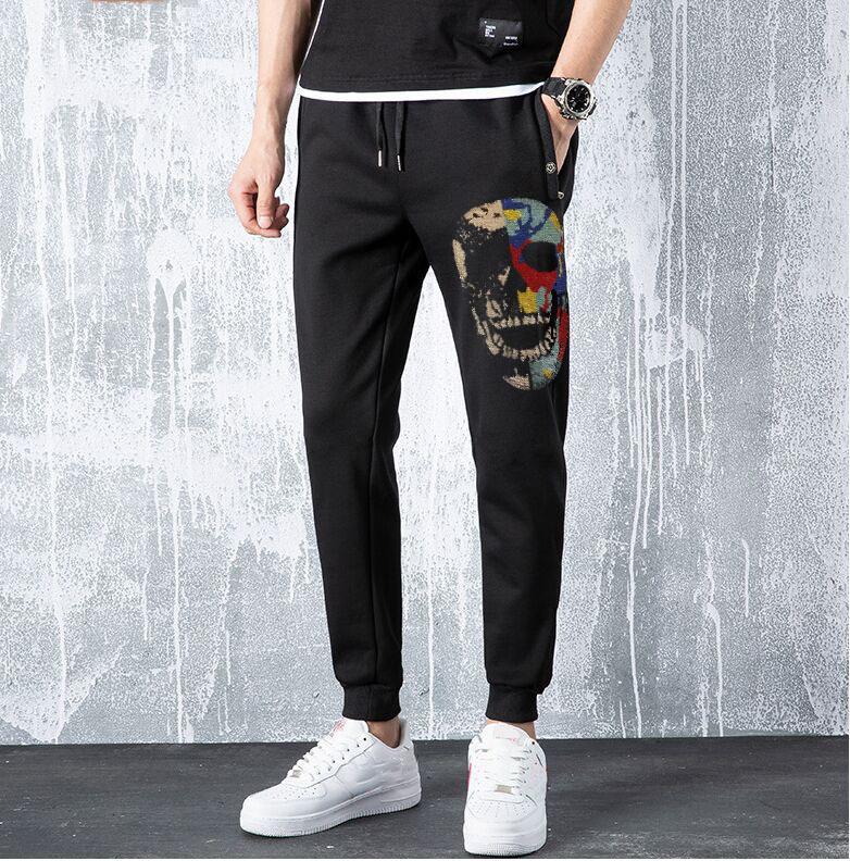 Superior 2020 Nueva Calidad Strass Strass Men Pantalones Jogging Pantalones Hip Hop Swell Swellpants Ganbu Brand 5J9C