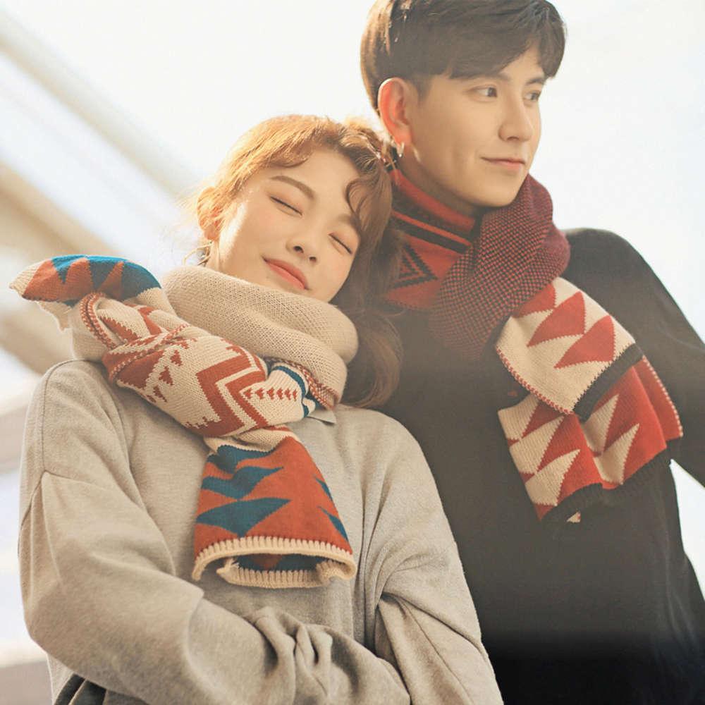 Осень зима Новые корейские вязаные шерстяные шарфы, любители, мужчины и женщины утолщены теплыми, студенты универсальные моды шеи