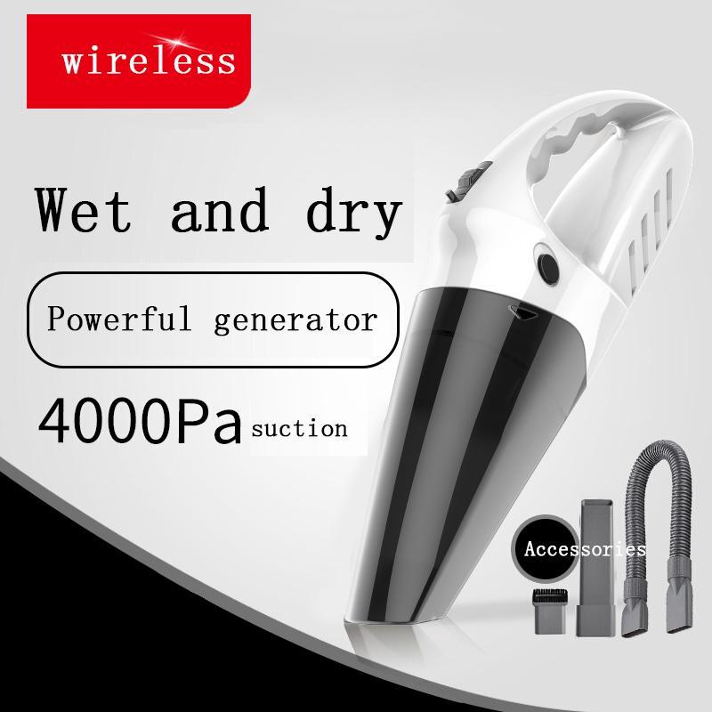 OB10 Aspirateur de robot Sans fil Mini Cyclone 4000Pa Big Power Voiture de Power / Home Cheveux Dépoussiéreurs Manucure Portable humide / sec