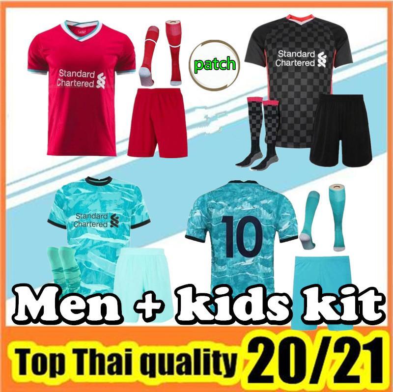 2020 2021 Erwachsene Kit Football Jersey Home Rot Away Blue Hemd 20 21 Herrenfußballuniformen Kit + Socken