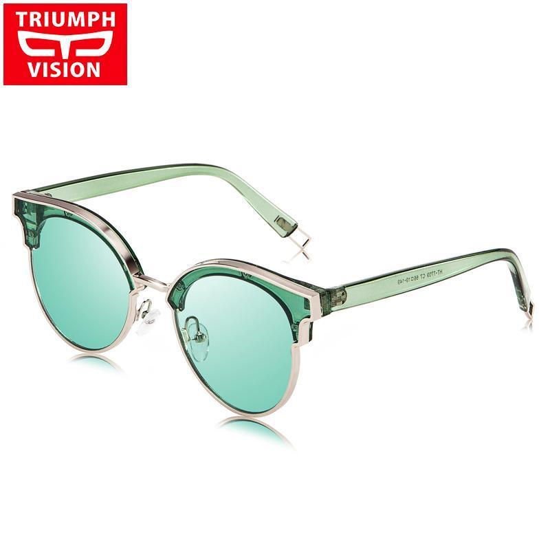 Óculos de sol visão rosa mulheres luxo quadro transparente oculos espelho qualidade óculos de sol para