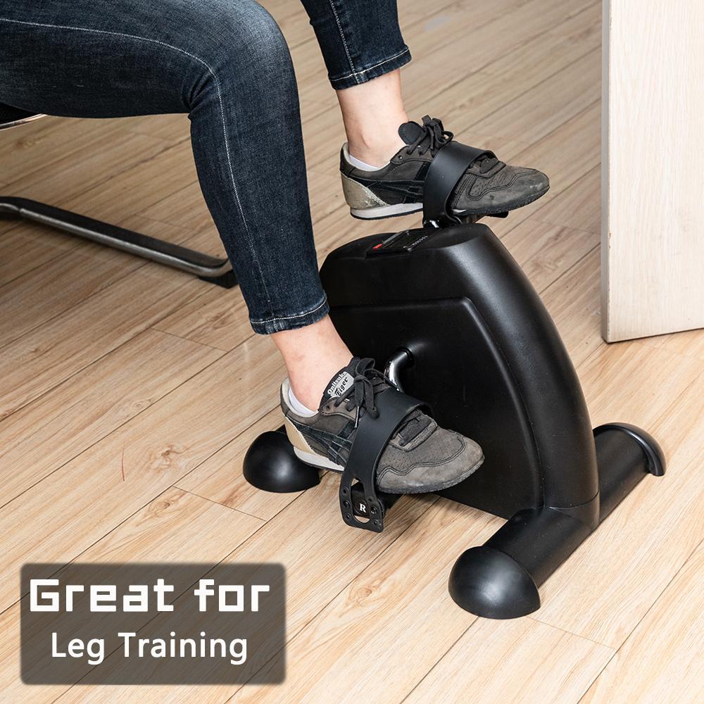 Waco Portable Mini Home Home Упражнение Велосипеда, Подключение для ног для ног и оружия с ЖК-дисплеем (черный)