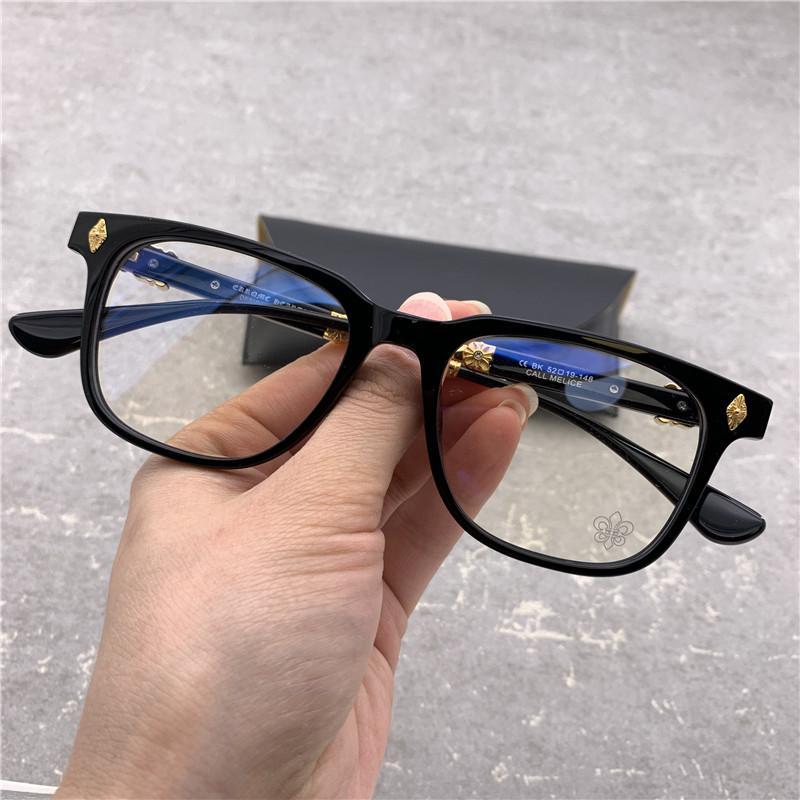 Marca homens prata óculos quadros para mulheres vintage óculos óculos quadro para homens quadro de espetáculo preto miopia óculos com caixa original