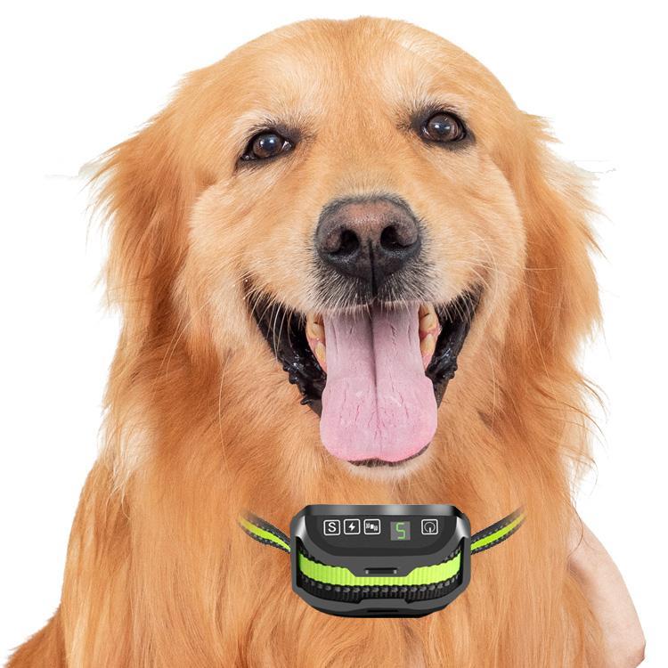 2020 جديد التلقائي القابلة لإعادة الشحن ماء الكلب التدريب جهاز الاهتزاز مكافحة النباح طوق وقف طوق