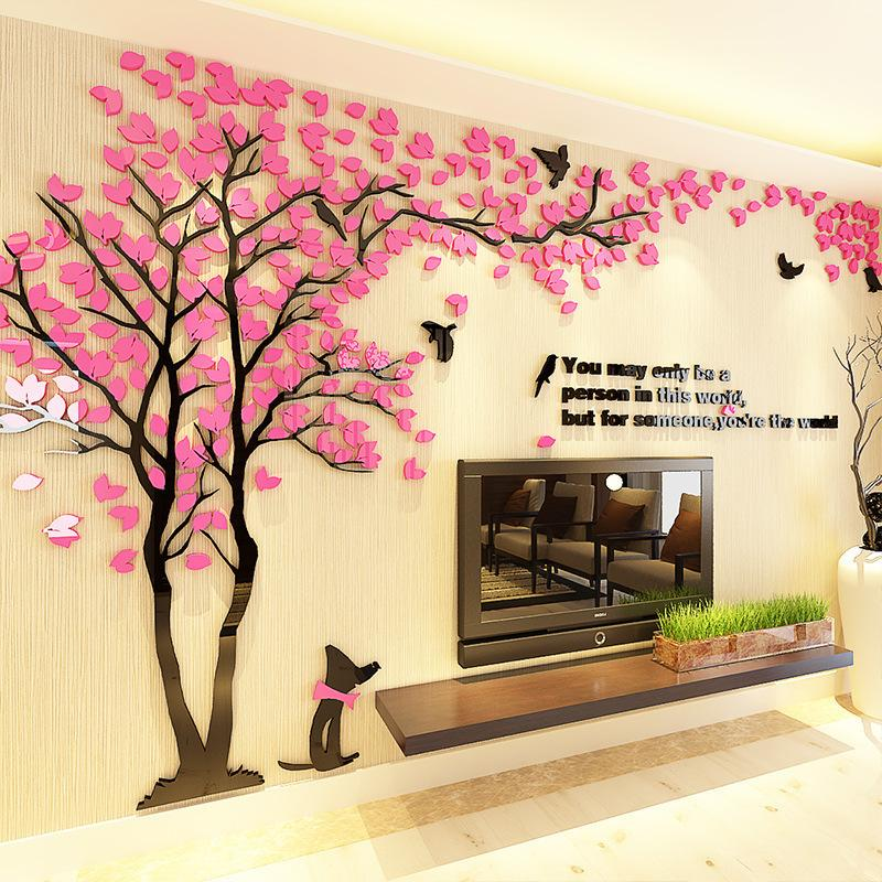 Large 3d Diy Acrylic Mirror Wall, Large Mirror Wall Stickers Uk