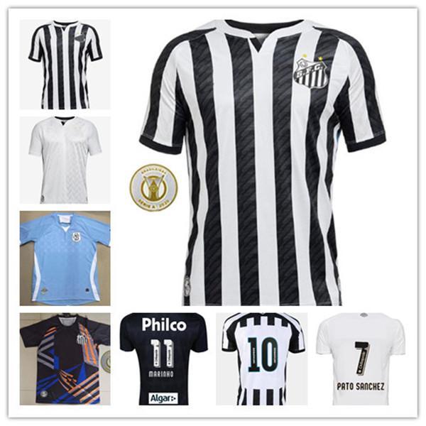 2020 2021 Santos FC Fussball Jersey 20 21 Santos Home Away Gabriel Rorrygo Dodo Renato Sasha Football Hemden