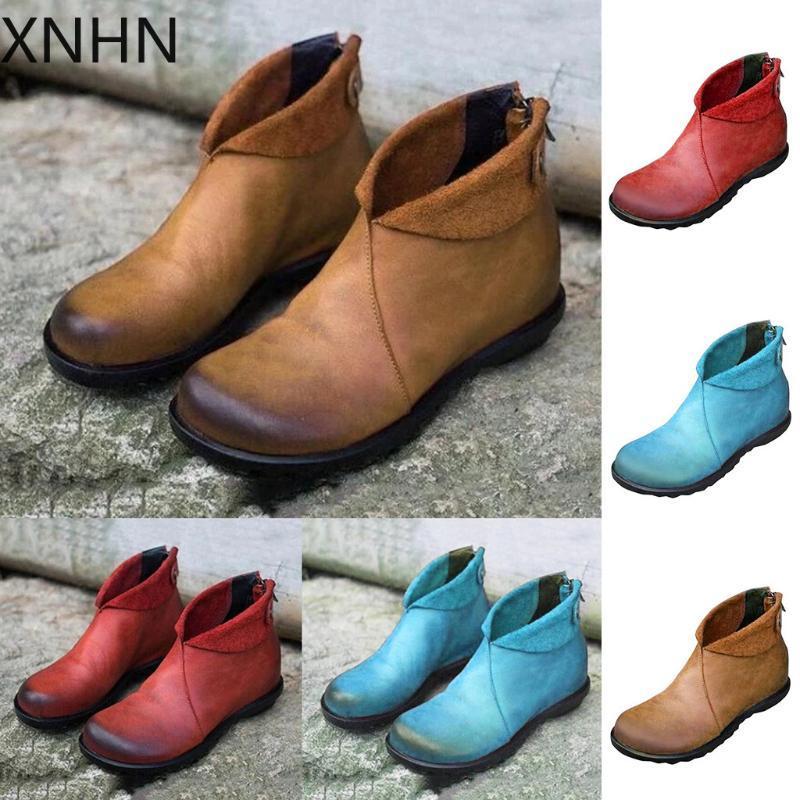 Stivali invernali Scarpe da donna Sedie da donna Tacco piatto Casual Singola scarpe singole scarpe da stivaletti corti caviglia