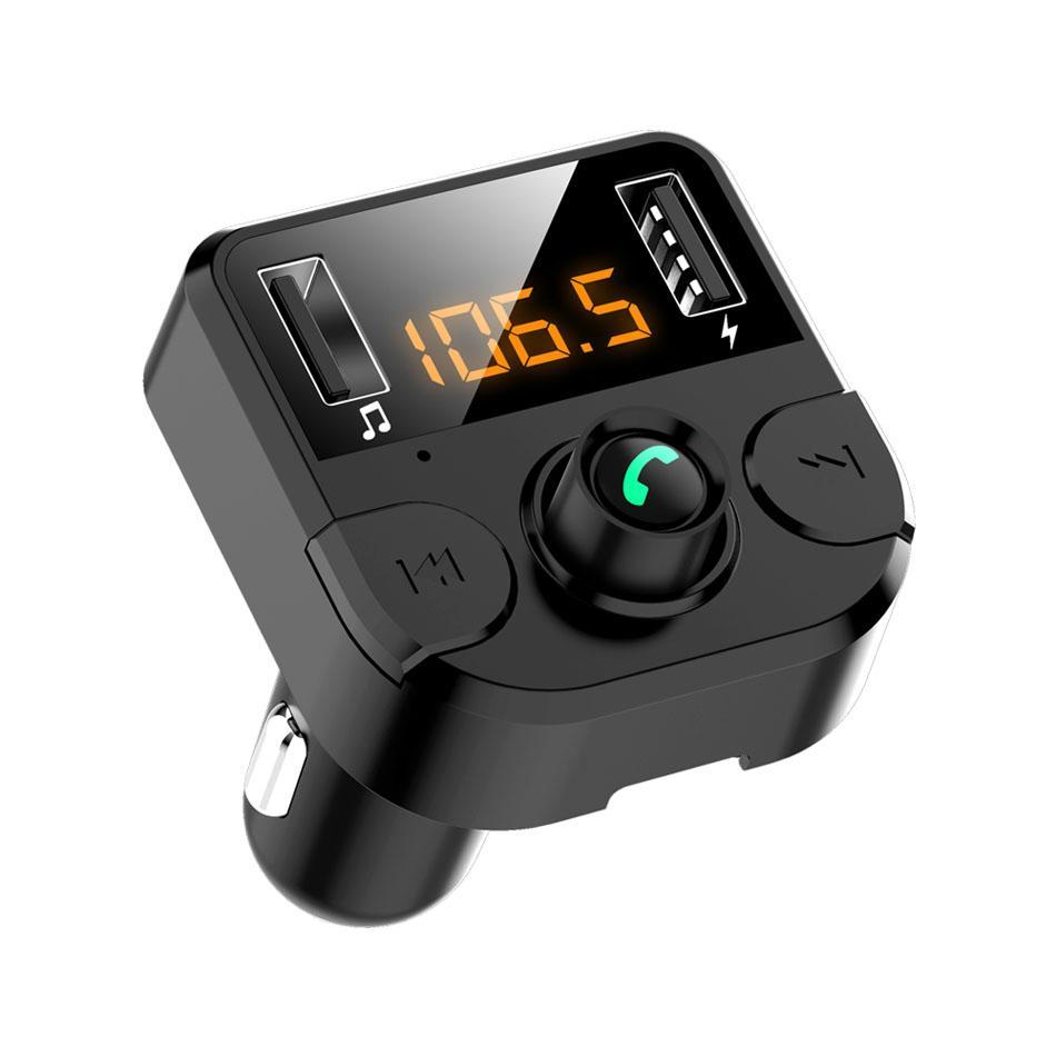 BT-36 Bluetooth QC3.0 USB-Auto-Sender Freisprecheinrichtung-MP3-Player USB-Ladegerät-Unterstützung TF-Karte Ungebundenes Android-Telefon mit Kleinkasten