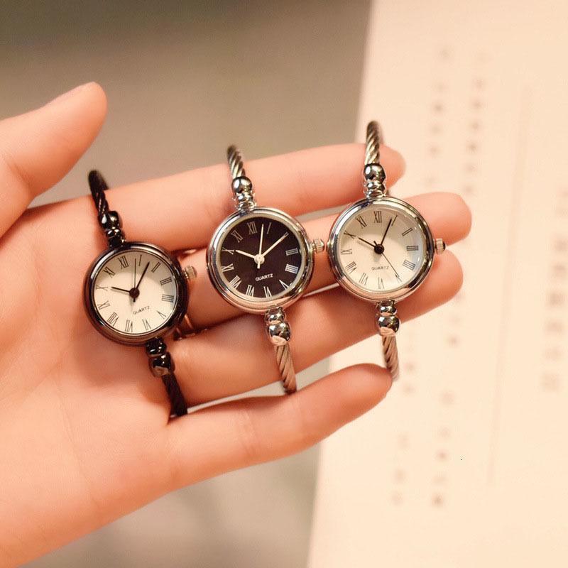 1 шт. Женская леди девушка студент запястье кварцевые часы мини круглая сплав винтажный подарок H9