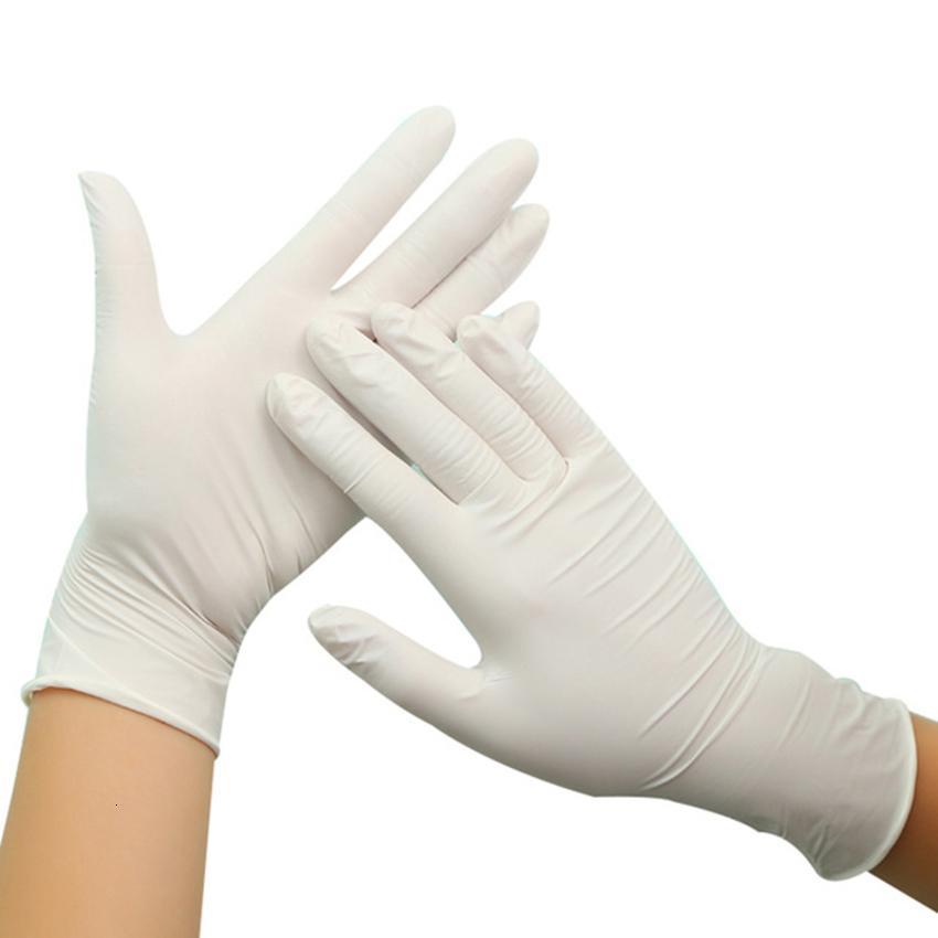 NITRILE 100PCS Одноразовые посудомоечные резиновые перчатки и нетоксичная безопасная аллергия бесплатно для красоты для пищевых продуктов Q0BE