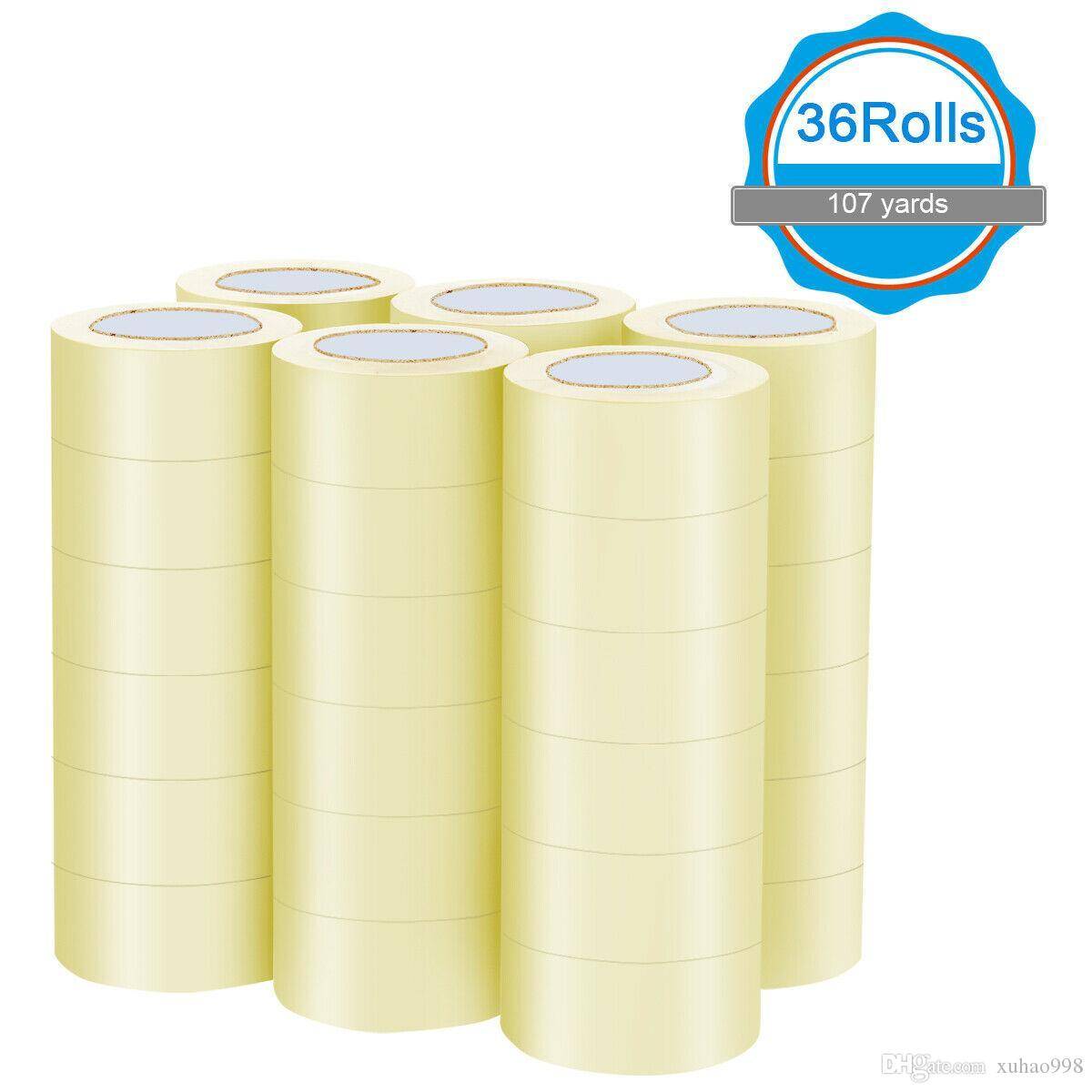 """36 rouleaux de 1,9 """"x110 mètres (330 'ft) Boîte de carton d'étanchéité de la bande d'emballage"""