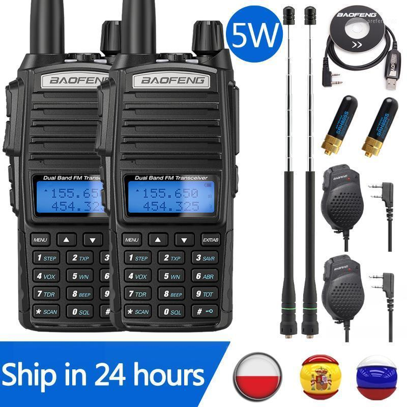 2 adet Baofeng UV-82 5 W Walkie Talkie Radyo UV82 Çift PTWO Yolu Radyo Çift Bant VHF UHF 10 KM Baofeng UV-5R UV-9R1