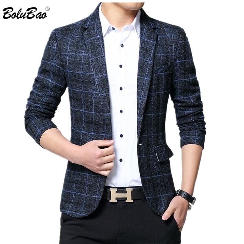 Bolubao Brand Uomo Primavera Autunno Autunno Maschio Business Suit Uomo Blazer da sposa Blazer Slim Fit Coat Top Y201026
