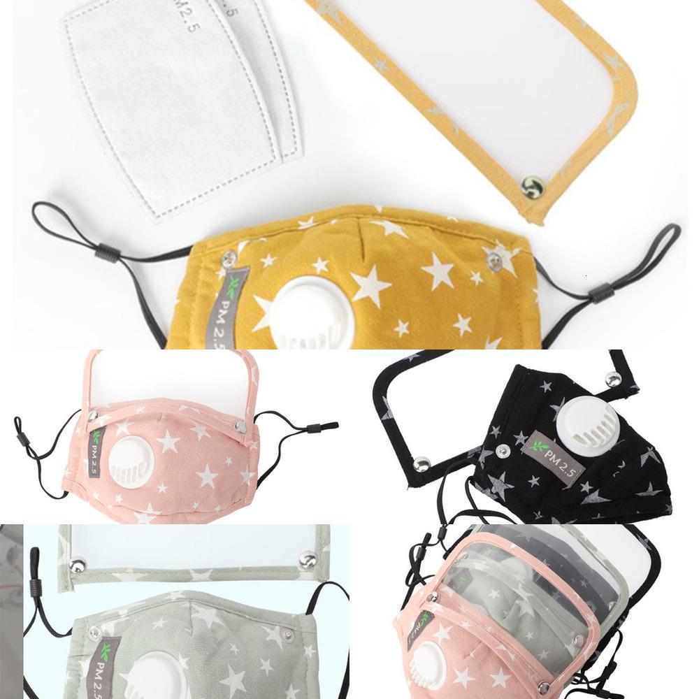 Mascarilla desmontable para niños con válvula de respiración Niño Removible Estudiante Mascarillas ajustables con 2 filtros Protección solar Ojos Cara MAN1
