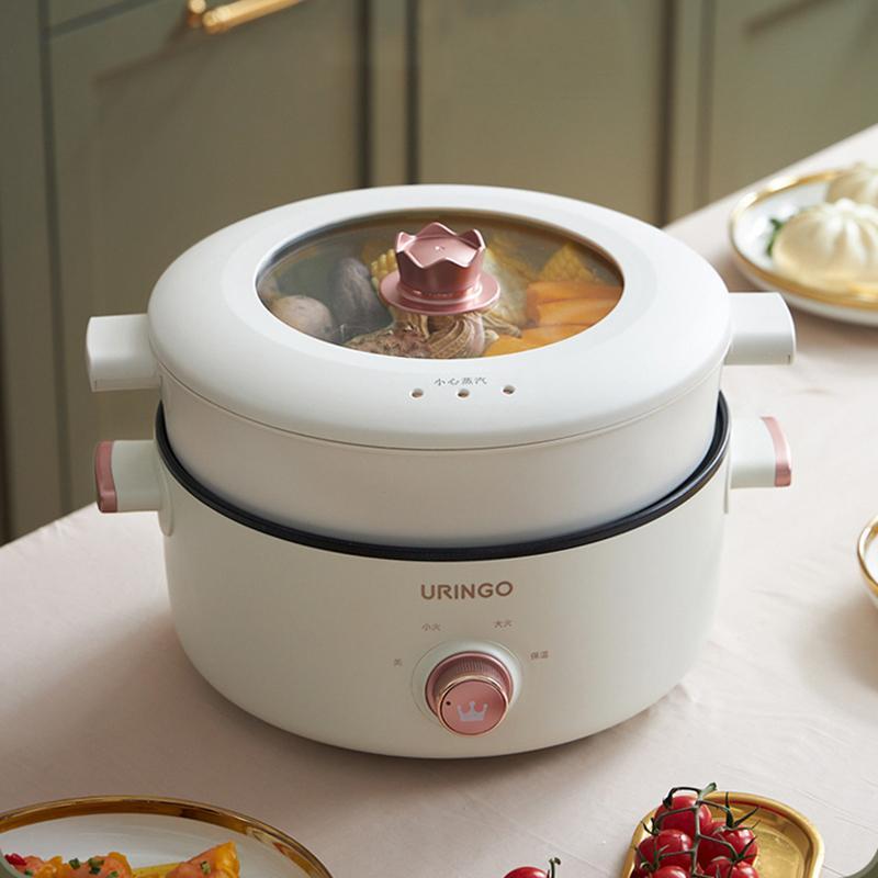 Multicooker Steamer Saocepan غير عصا وعاء حار الطبخ وعاء المعكرونة سبليت تبخير حساء الغليان لسفر الأجهزة المنزلية المدرسة
