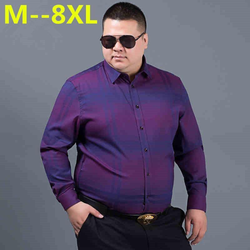 Más 10xl 8xl 6xl 5xl primavera otoño características camisas hombres camisa casual nueva llegada de manga larga casual holgado fit fit camisas masculinas