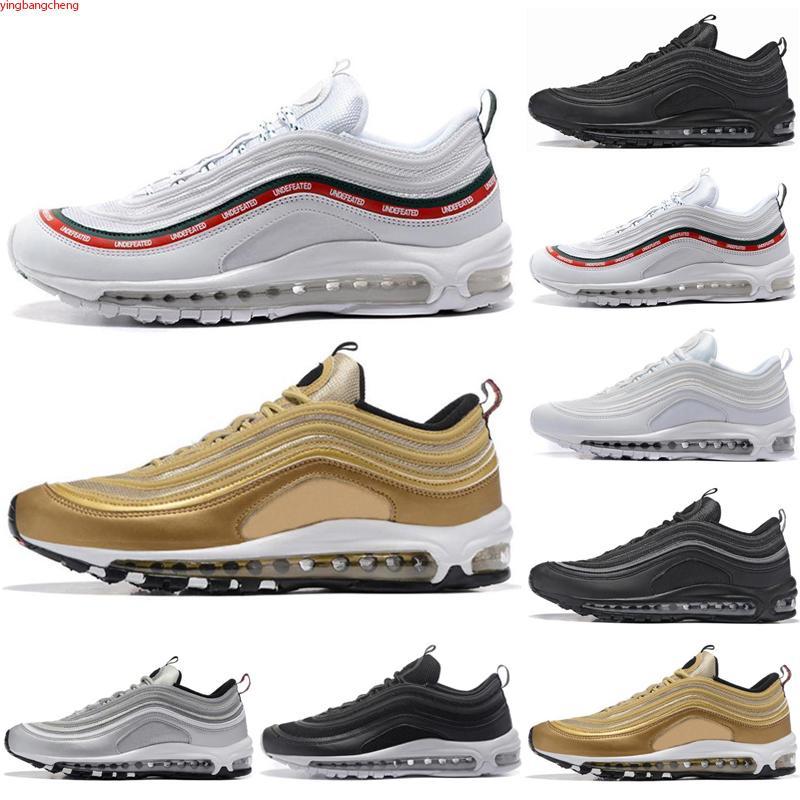 Max 97 2021 OG X X Silver Bullet Peddd Negro Blanco Velocidad Hombres Zapatos Casuales Nueva Llegada Sean Mujeres Adentro Sneakers 36-45