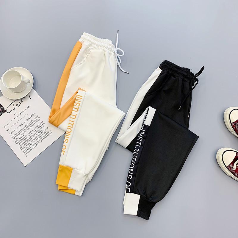 Pantalon de cargaison élastique de la taille des femmes de printemps dames décontractées Student Streetwear Streetwear Pantalons Plus Taille Femme Pantalon Jogger 201103