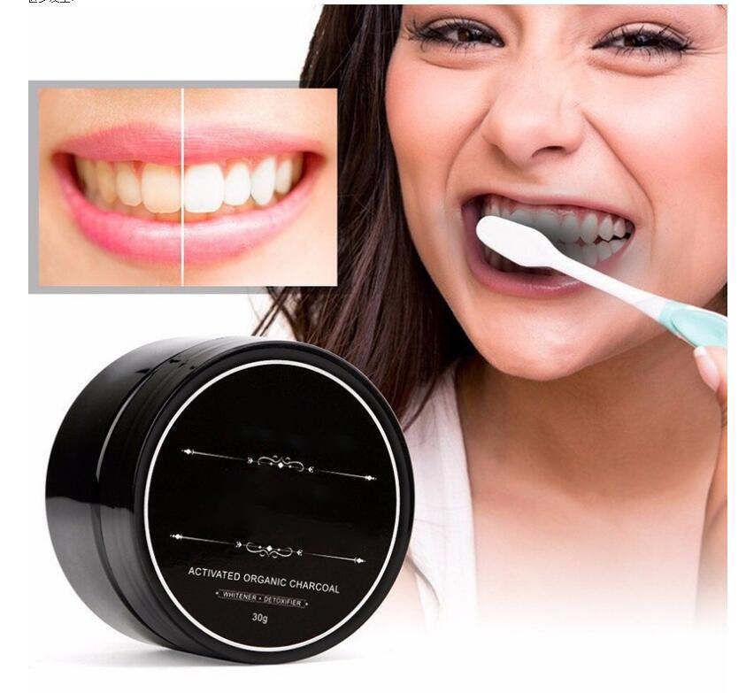Dropshipping In stock Daily Use Teeth Powder Oral Hygiene Cleaning Packing Premium Activated Bamboo Charcoal Powder Teeth