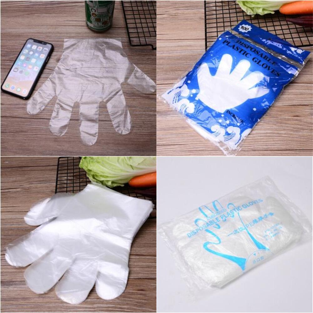 FactoryX98EFactoryIFWQPlastic Film Housekeeping Disposable Transparent Kitchen Work Gloves Hygiene Garden Cleaning Glovess AHC1181
