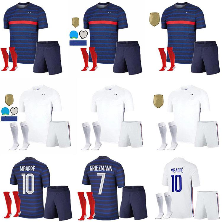 2020 France MBAPPE GRIEZMANN POGBA jerseys 2021 Soccer jersey Football shirts maillot de foot adult + kids kit socks