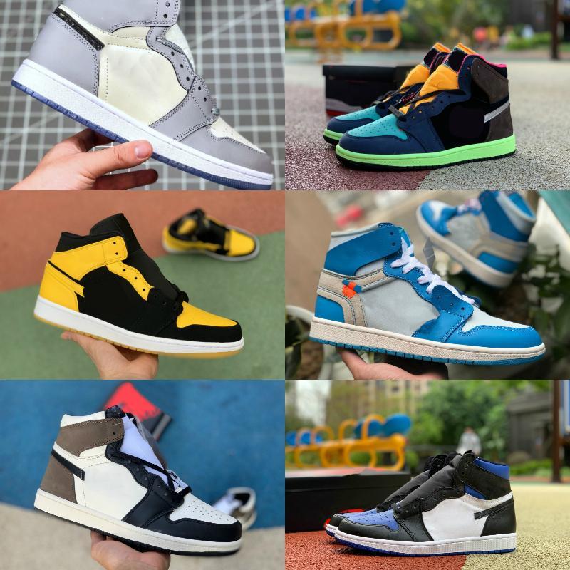2021 جديد 1 ثانية أحذية كرة السلة رخيصة الرجال النساء التعادل صبغ og bio hack شيكاغو الأزرق unc براءات الاختراع الأبيض الأسود الملكي تويست الأخضر تو مصممي