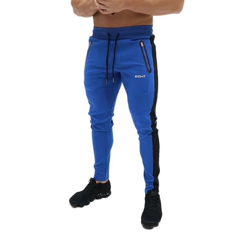Casuales Pantalones flacos para hombre Gimnasio Gimnasio Pantalones Pantalones Jugadores Pantalones De Pantalones De Algodón Pantalón Deporte Pantalón Masculino Correr Ropa deportiva Y200518