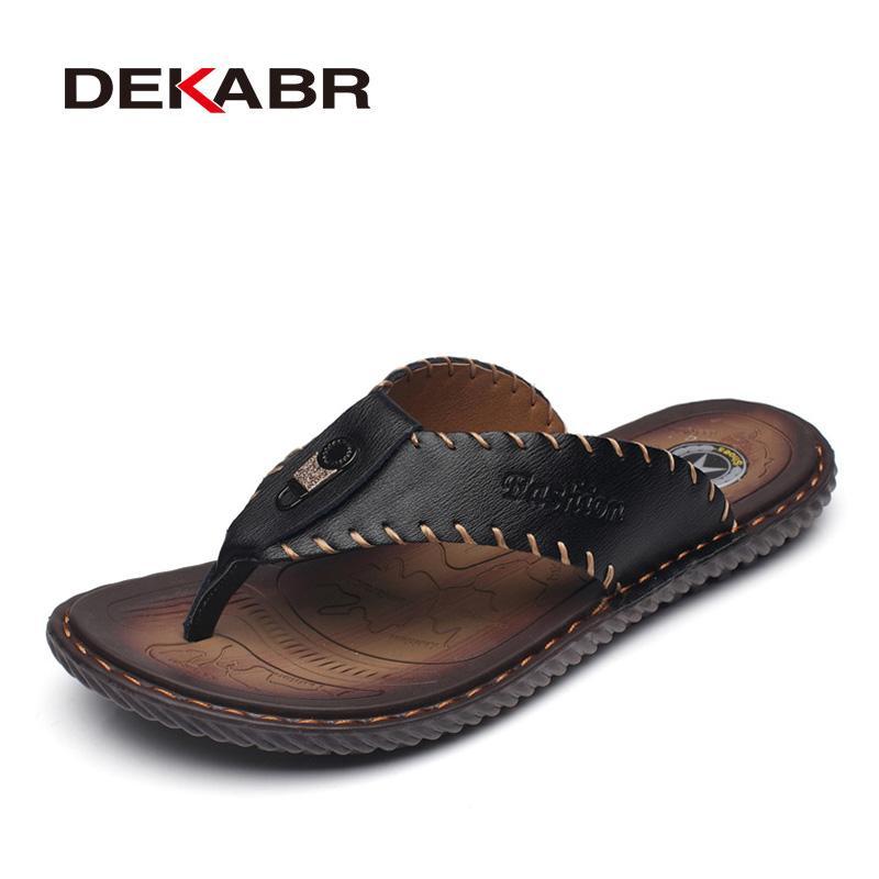 Nouvel arrivage de gros hommes d'été Flip Flops de haute qualité sandales de plage antidérapants Homme Chaussons Chaussures Hombre Chaussures Hommes Casual