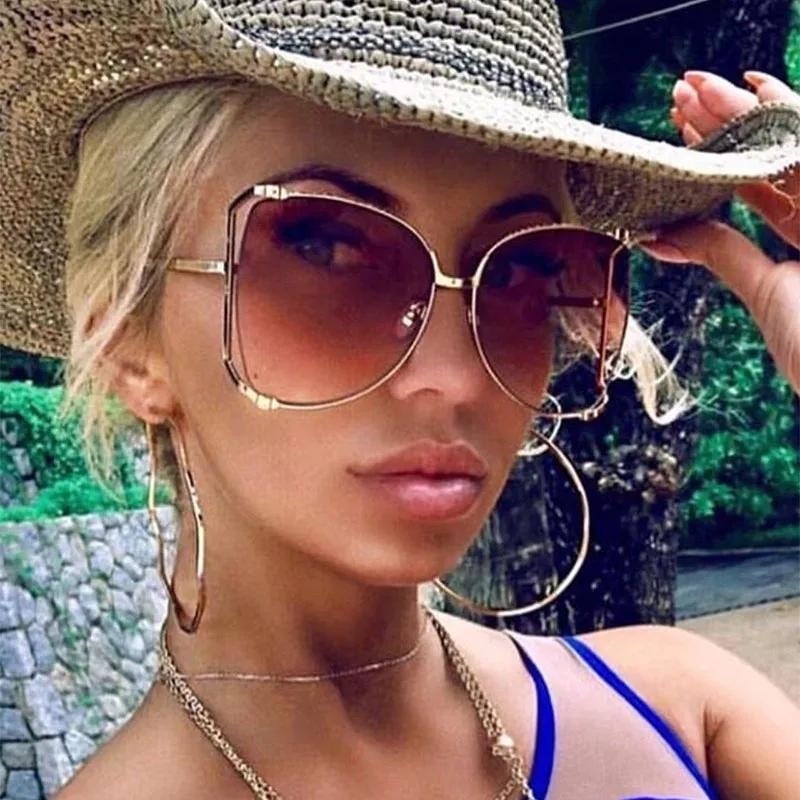 Luxury-2020 Новые Солнцезащитные очки Женские оттенки Жемчужина Для Женщин Солнца Мода Квадратные Ноги Очки Украшения Градиентные Солнцезащитные Очки BGVHB