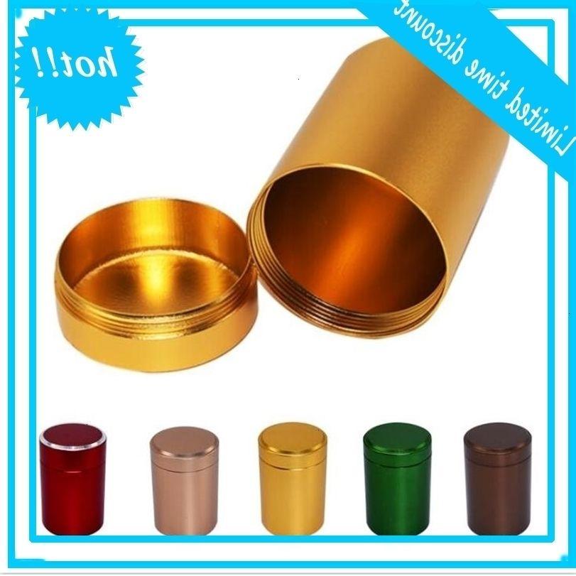 XXXL Metal Round Pill Box Holder Advantageous Container Storage Case Waterproof Tobacco Tea Stash Double open 5 colors