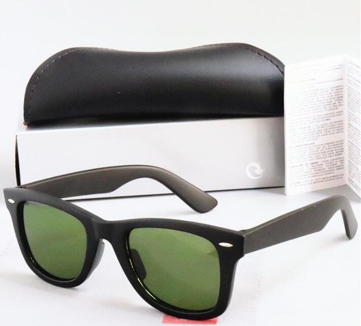 Verres de haute qualité Femmes Sunglasses Box Marque avec 22140A Vintage Band Sun Uv400 Bans Ben Pilot New Ray Hommes Wayfarer Aigco