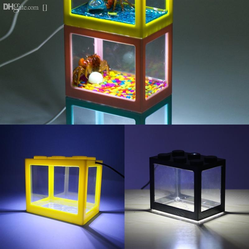 1ZXY1 LED LEDO Blokları Akvaryum Işık Spektrumu Balık Tankı Balık Mavi Hava Pompası Tatlısu Peyzaj Resif Için Tam Dim Dim