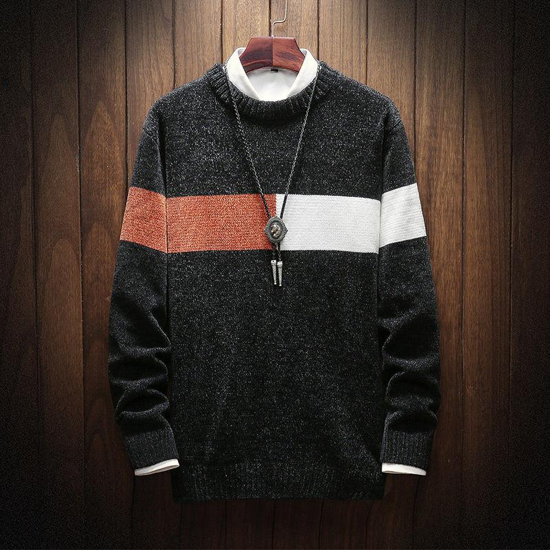 Hybskr uomo inverno caldo caldo coreano streetwear moda pullover maglione 2020 autunno grafico stampato abbigliamento maschio casual
