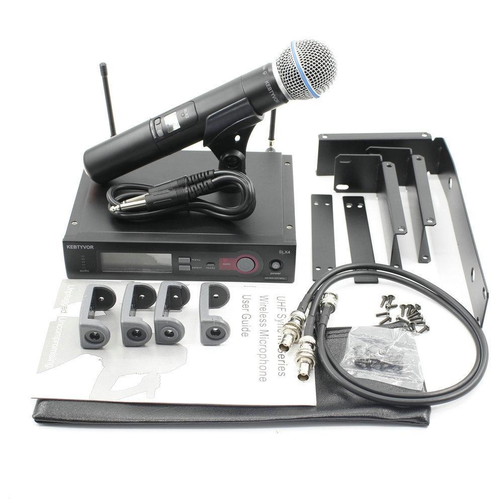 Бесплатная доставка по DHL SLX24 / Beta58 UHF Candheld Беспроводная система микрофона со стойкой монтажные кронштейны стойки