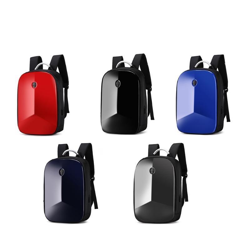 Sac à dos imperméable aux hommes avec USB Charing Port Mot de passe Lock Sac de portable Scolaire