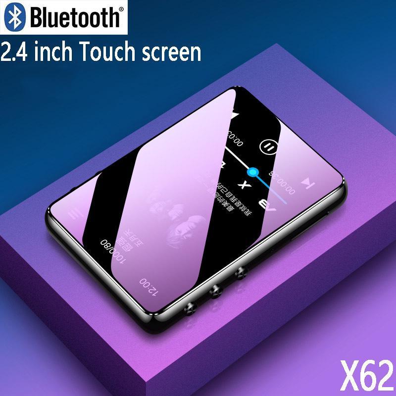 Original Metal Player Bluetooth 5.0 Touch Screen 2.4 polegadas Altofalante embutido com E-book Radio gravação de vídeo Reprodução LJ201016