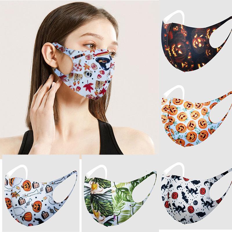 Weihnachtsmode Earloop Weihnachten für Erwachsene Gesicht 3D Halloween Druck Anti-Staub Atmungsaktiv Waschbare Maske Party Masksgsay