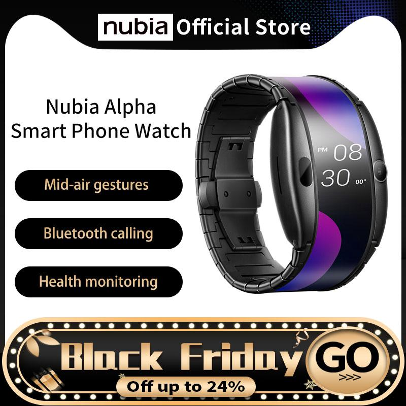"Global Version Nubia Alpha Akıllı Telefon İzle 4.01 ""Katlanabilir Esnek Ekran Snapdragon 8909w Bluetooth Arama"