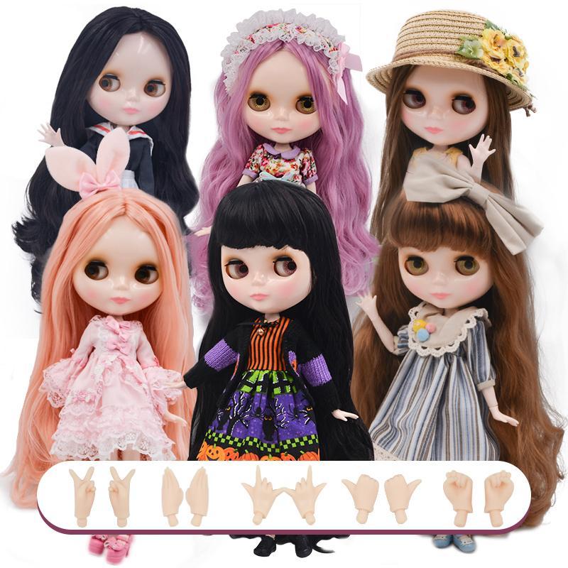 Blyth Doll BJD, Fabbrica Neo Blyth Doll Nude Nude Bambole personalizzate Può cambiare trucco Dress FAI DA TE, 1/6 Ball Dolls Joint Bambole Idee regalo 26 LJ201031